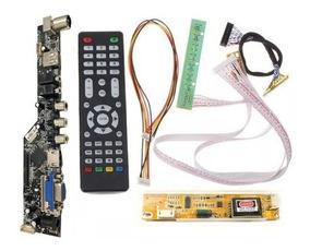 Placa De Tv Lcd Led Universal Controladora V53 Kit 30 Pinos
