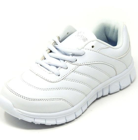 Zapatos Dep. Escolares Yoyo 16367l Blanco 32-39 Envío Gratis