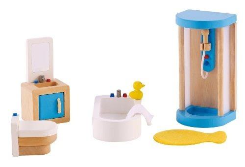 Hape Wooden Doll House Furniture Conjunto De Baño Familiar