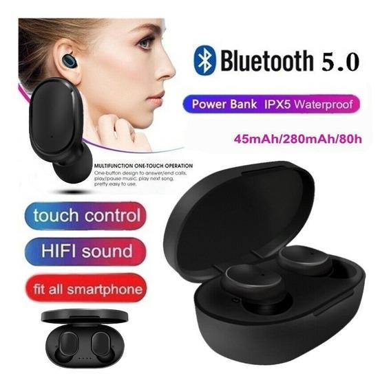 Fone De Ouvido Sem Fio A6s Mipods Preto Bluetooth 5.0