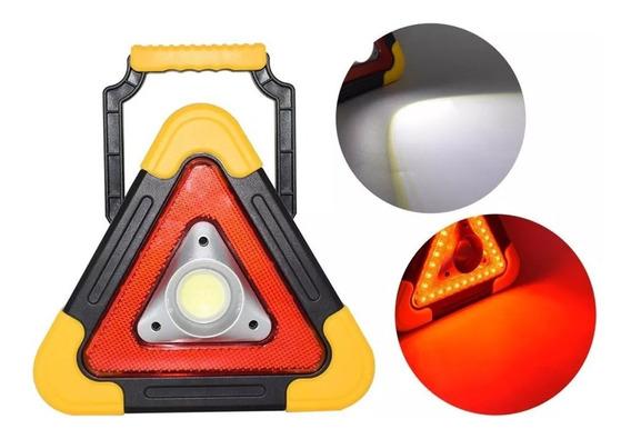 Lampara De Emergencia Reflector Recargable Celda Solar /e