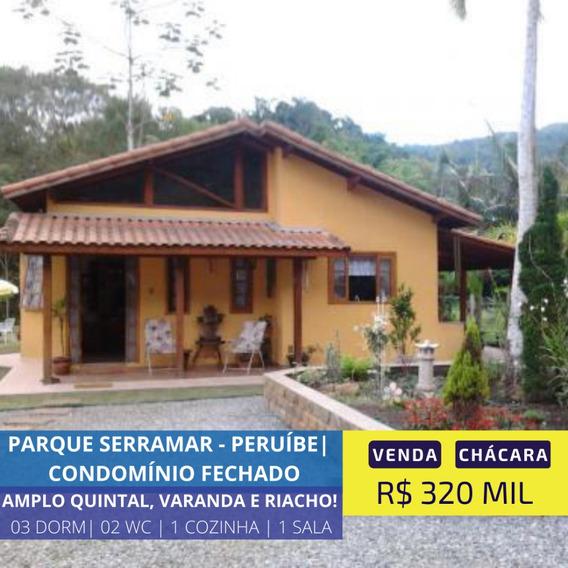 Linda Chácara Condomínio Fechado Em Peruíbe Litoral Sul Sp