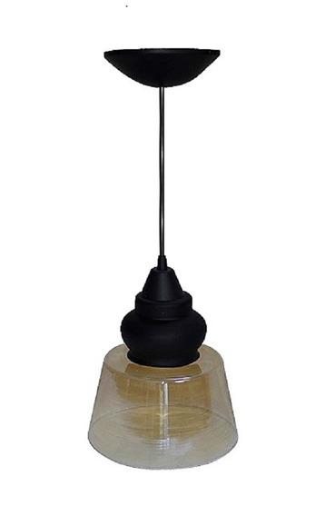 Pendente Lustre Luminária De Teto Pomona Plástico E Vidro