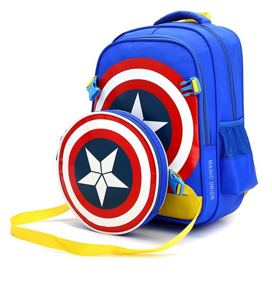 Mochila Infantil Com Lancheira Capitão América