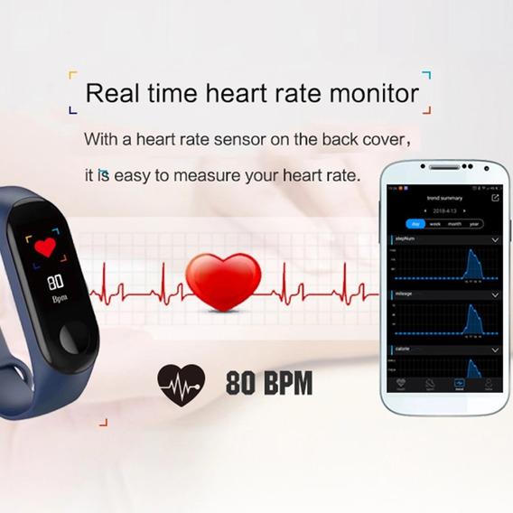 Relógio Inteligente Black Pressão Frequência Cardíaca