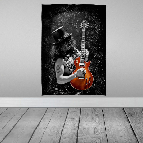 Imagem 1 de 3 de Stompy Bandeira Decorativa Slash Guitarra Guns Roses