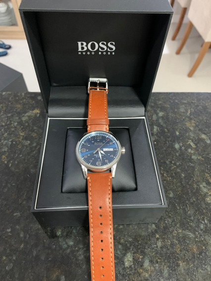 Relógio Hugo Boss Masculino Couro Marrom - Original
