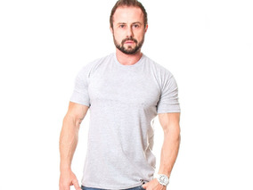Kit C/7 Un Camisa Blusa Camiseta Masculina Gola O Basicas