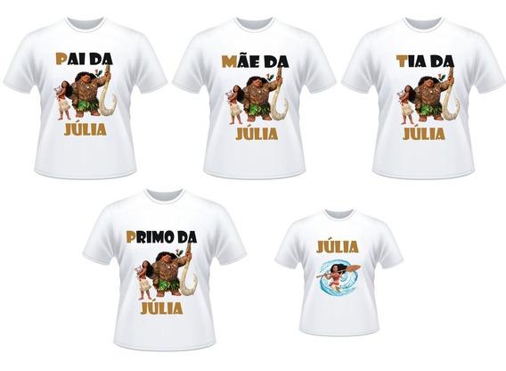 Kit 5 Camisetas Familia Moama