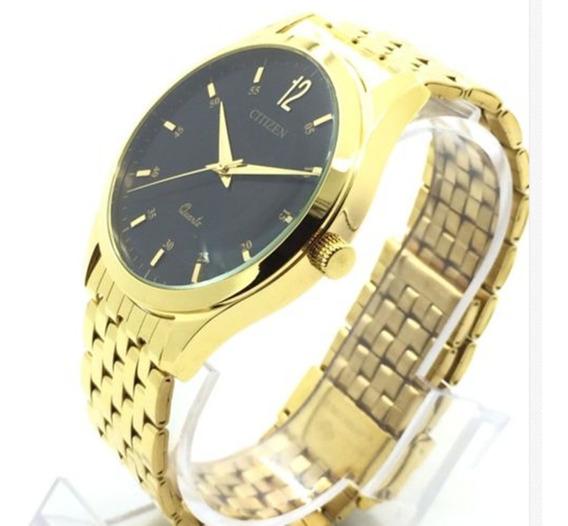 G) Relógio Citizen Banho Ouro Masculino Frete Grátis Promoção