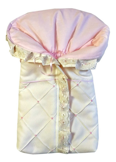 Porta Bebê Saco De Bebe Dormir Rosa Floral Algodão