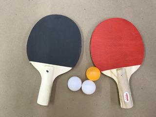 Kit Ping Pong 2 Raquetes E 3 Bolas