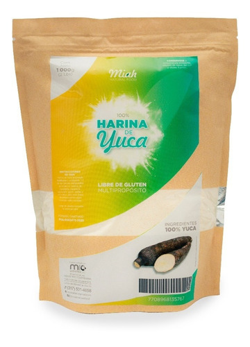 Imagen 1 de 2 de Harina De Yuca Sin Gluten - kg a $25