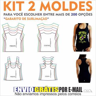 Kit 2 Moldes De Roupas A Sua Escolha. Camisas, Calças, Etc