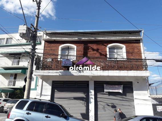 Casa Com 2 Dormitórios Para Alugar, 100 M² Por R$ 1.100/mês - Centro - São José Dos Campos/sp - Ca4480