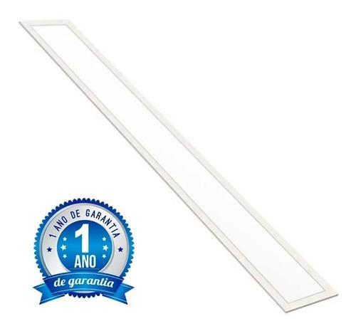 Imagem 1 de 9 de Plafon Embutir Retangular Led 120x20 48w Branco Quente Ledo