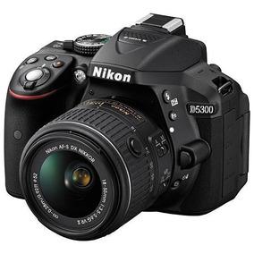 Câmera Nikon D5300 18-55mm Vr Preto Nova Lacrada C/nf