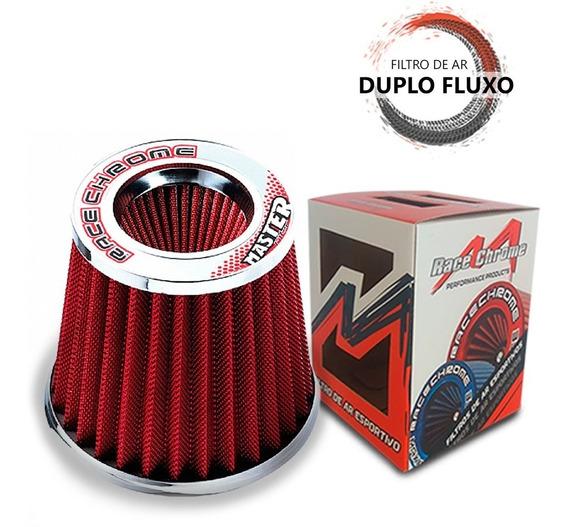 Filtro Ar Performance Duplo Fluxo Masterfilter Vermelho 20cm