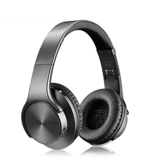 Fone Headphone Sodo Mh5 Bluetooth 2 Em 1 Caixa De Som Preto