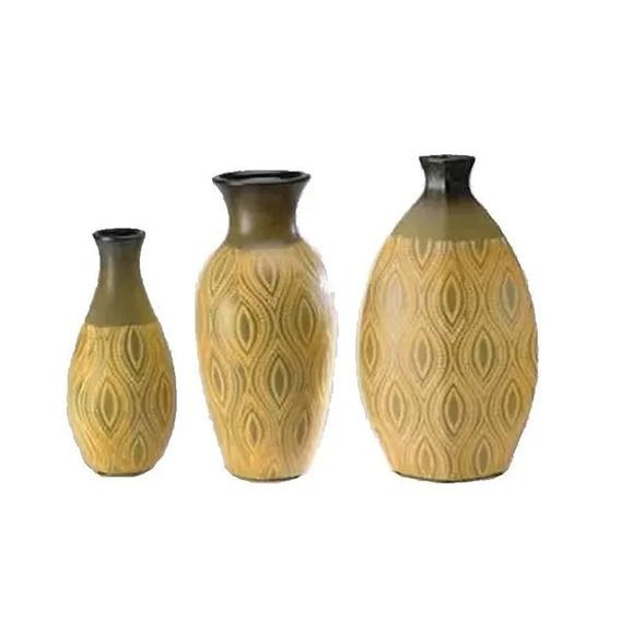 Set De 3 Jarrones De Ceramica - Decoracion - Regalo Diseño