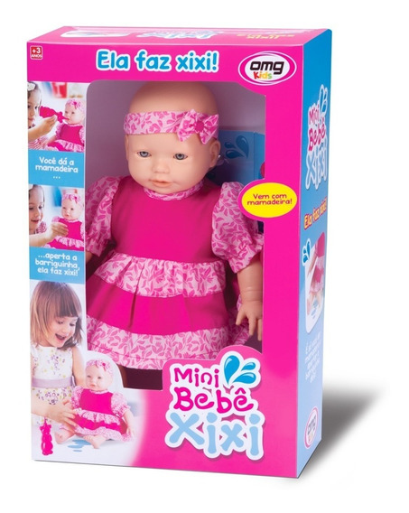 Boneca Mini Bebê Xixi C/ Mamadeira Faz Xixi De Verdade - Omg