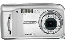 Camera Digital Olympus Fe-120 Sd Card 1gb + Acessórios