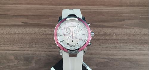 Relógio Suíço Technomarine Uf6 Feminino Rosa Silicone Branco