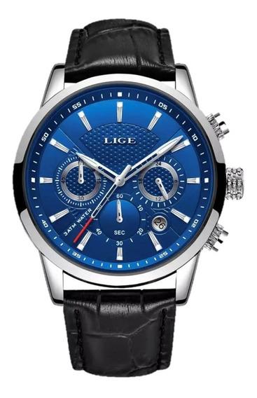 Relógio Masculino Lige Social Luxo 100% Original Promoção