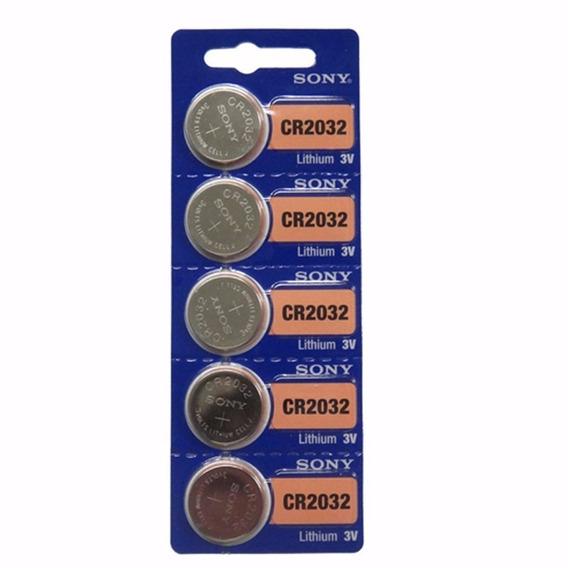 Bateria Lithium Cr2032 3v Sony Cartela C 5 Unidades Plac Mãe