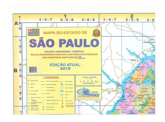 Mapa Do Estado De São Paulo Político E Rodoviário Atualizado