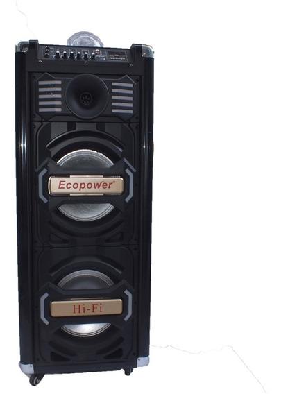 Caixa De Som Amplificada 350w Rms Ecopower Globo Luz A10268