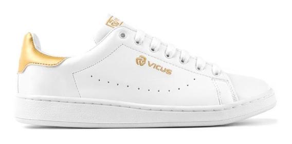 Zapatillas Vicus Furo Blanco Y Dorado (2051)