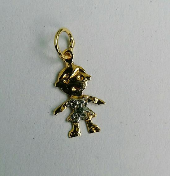 Pingente Boneca Ouro Amarelo 18kl 750