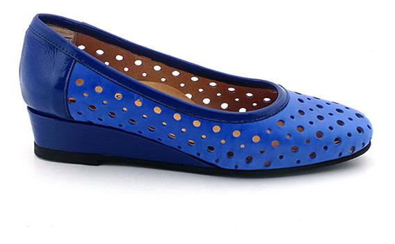 Zapato Cuero Briganti Mujer Taco Chino Mccz03308 Ch