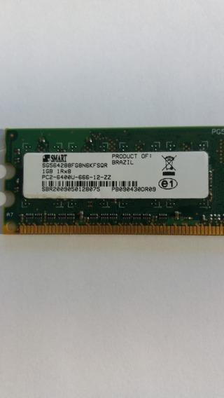 Memória Computador 1gb 1rx8 Pc2-6400u-666-12-zz