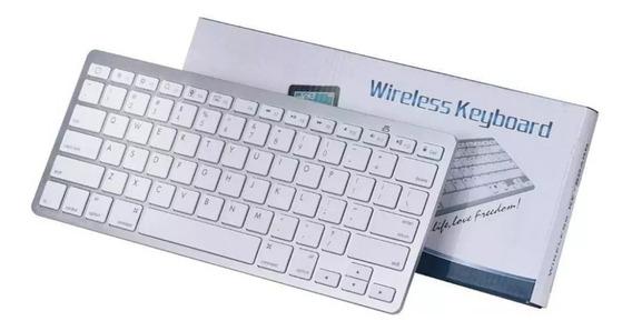 Teclado Sem Fio Para Tablets Celulares E Pc Bluetooth