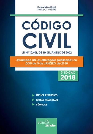 Codigo Civil Mini 2018 - Lei Nº 10.406, De 10 De Janeiro De