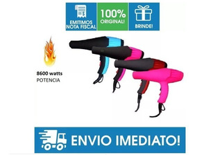 Secador Profissional Hair Dryer 8600w Nano Pro + Brinde