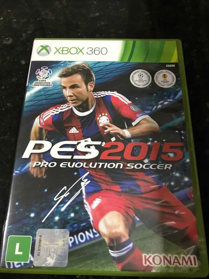 Jogo Xbox 360 Pes 2015 Original Mídia Física