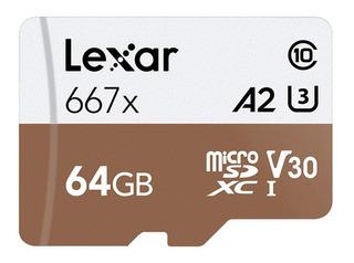 Lexar Microsd Tf Cartão De Memória Com 100mb/s -64gb