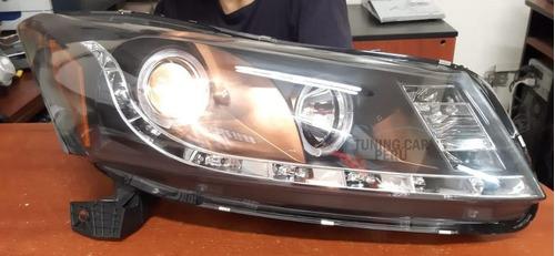 Faro Delantero Ojo De Angel Tuning Honda Accord 2008 - 2014