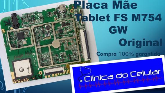 Placa Mãe Tablet Fs M754 Gw Original (retirada De Peças)