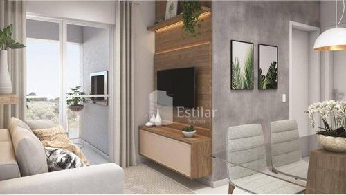 Imagem 1 de 18 de Apartamento 02 Quartos (01 Suíte) No Centro, São José Dos Pinhais - Ap3447