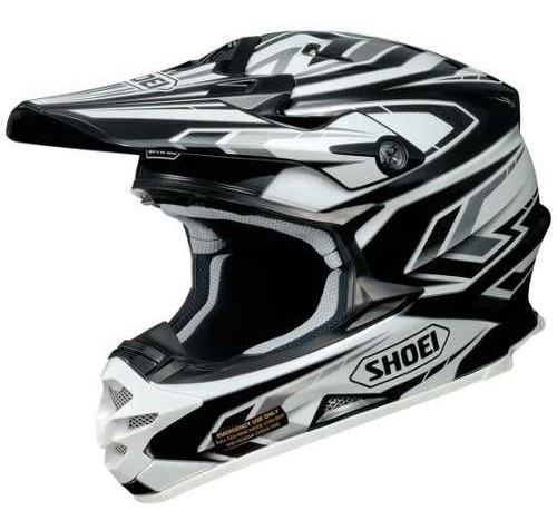 Casco Cross Shoei Vfx-w Block-pass Tc-5 Negro/blanco