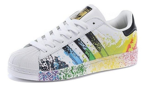 Tenis adidas Superstar Originals Paint Pride Back