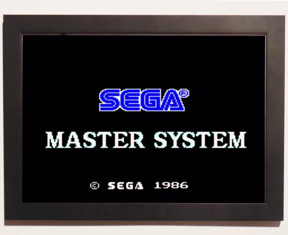 Poster C.moldura Sonic Sega Master System