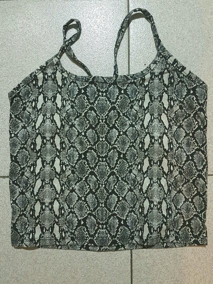Top / Musculosa / Remerita / Crop Top Animal Print Reptil