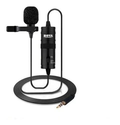 Imagem 1 de 5 de Microfone Lapela By-m1 Boya P/ Smartphone Câmeras