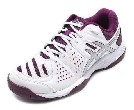 Tenis Asics T052b Branco/roxo