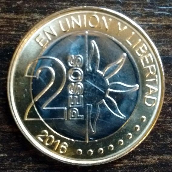 Moneda 2 Pesos Argentina 2016 Bicentenario Independencia Exc